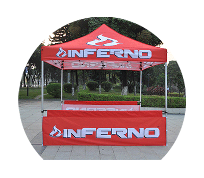 10ft(3X3) tent displays