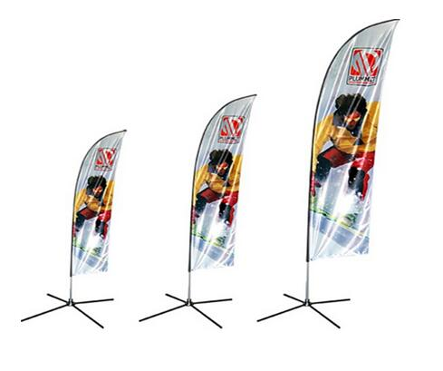 feather flying banner fiberglass flags